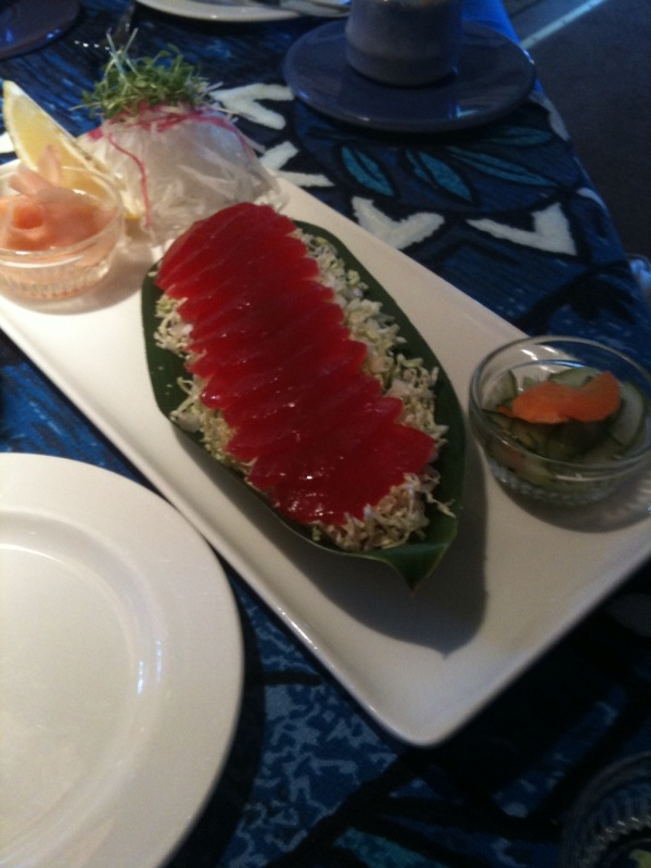 Tune Sashimi at Mama's Fish House, Maui, HI (c) Peter Tooker