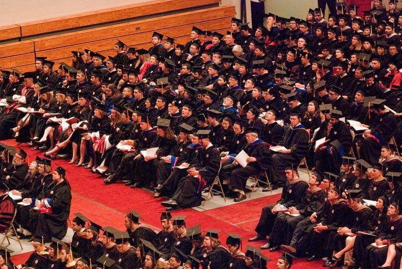 Graduates' Graduation at Indiana University May 7, 2010