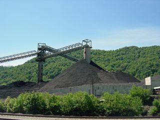Coal Mine Along the Midland Train and Train Tracks in West Virginia