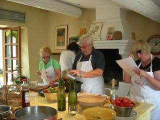 Cooking in the Kitchen at Chanteduc