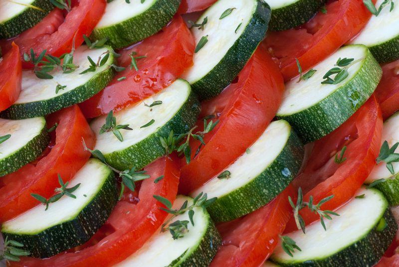 Tomato and Zucchini Gratin