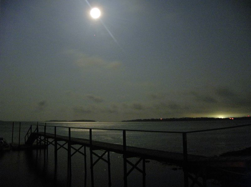 The Moon & Jupiter Over Pleasant Bay Sept 22 ©2010 Peter Tooker