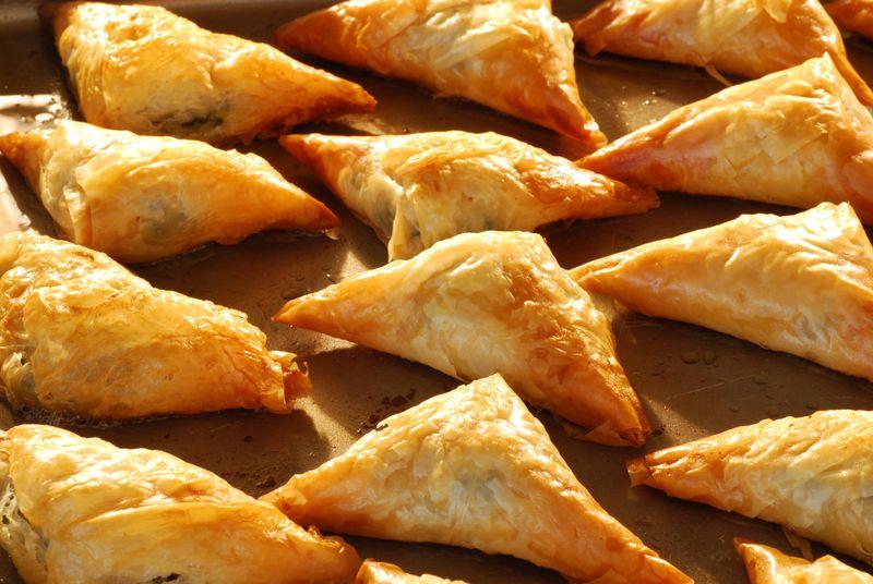 Flakey Spanakopita Pastry Triangles