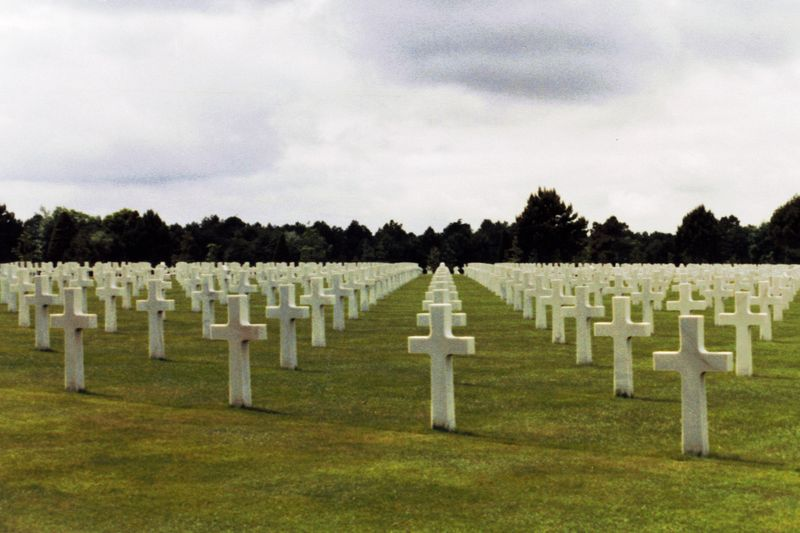 The American Cemetery in Normany France