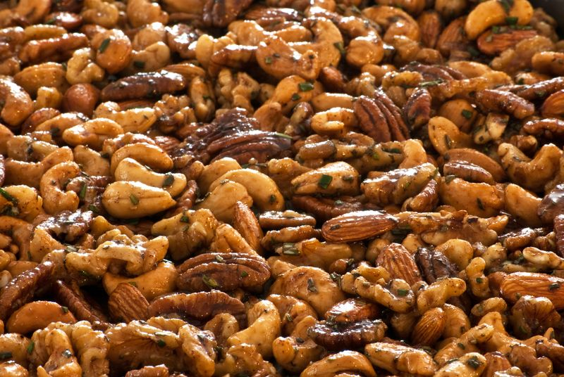Chipotle & Rosemary Roasted Nuts