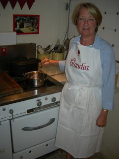 "Cooking in ""Julia's Kitchen"" at Julia Child's Stove"