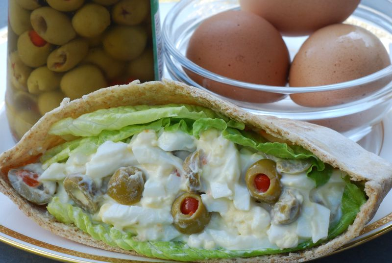Egg and Olive Sandwich