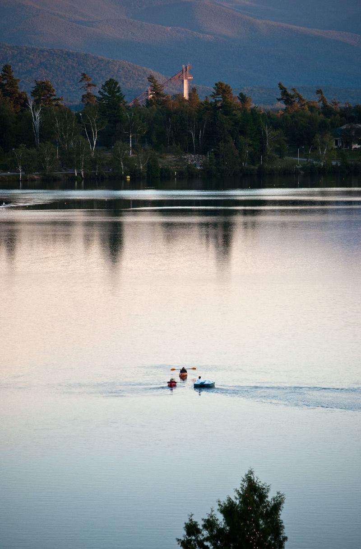 Mirror Lake in Lake Placid, NY in the Adirondacks