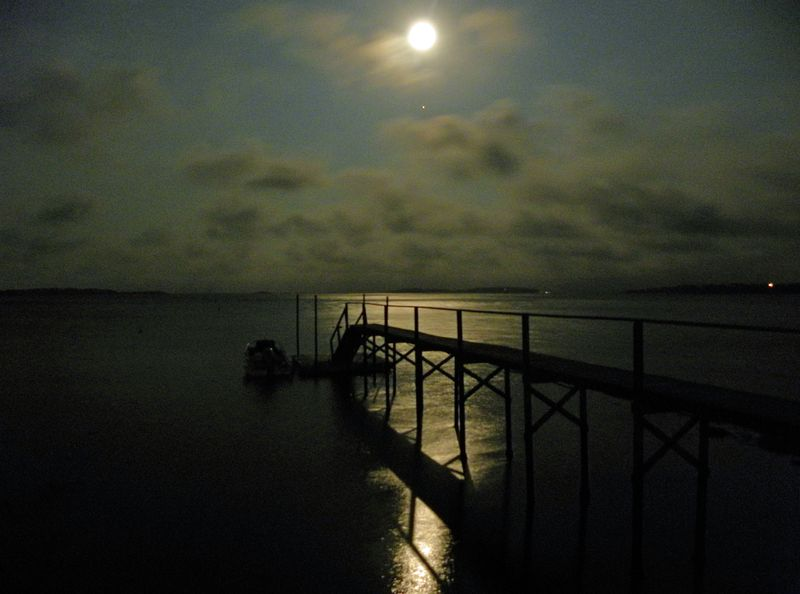 Moon & Jupiter Over Pleasant Bay Sept 22 ©2010 Peter Tooker