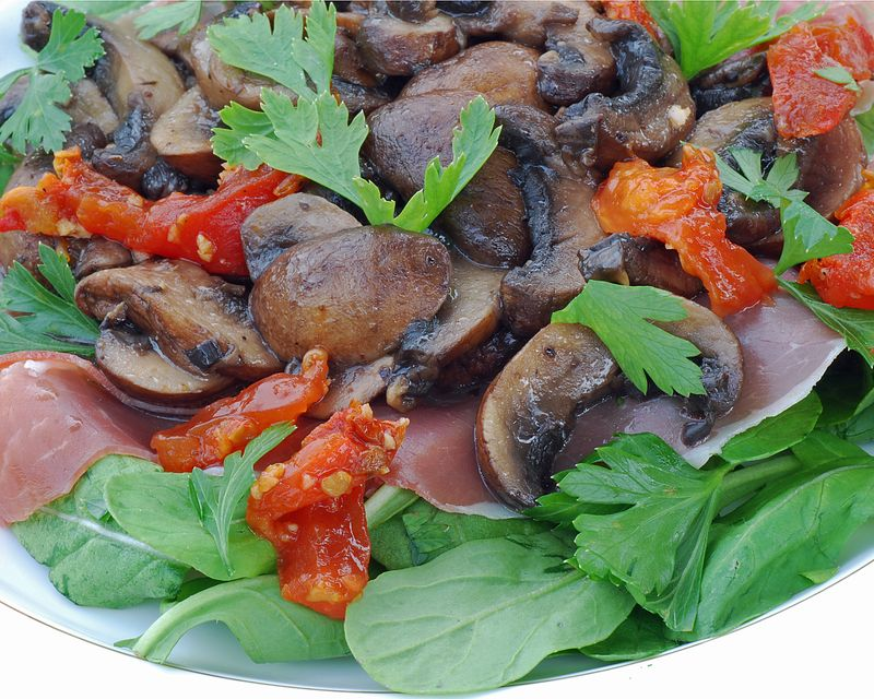 Warm Mushroom Salad - Open Window