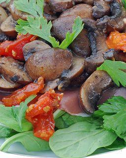 Warm Cremini Mushroom Salad