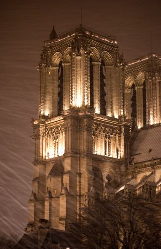 Notre Dame in the Snow ©2010 Claudia Ward
