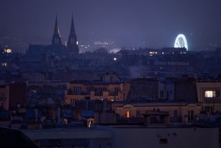Paris Skyline at Christmas