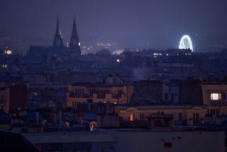 Paris Skyline at Christmas