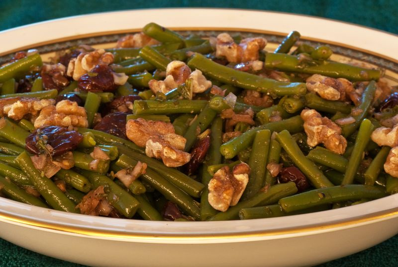 Green Beans with Toasted Walnuts and Dried-Cherry Vinaigrette ©2010 Claudia Ward