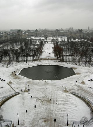 Tuilleries and the Louvre in the Snow