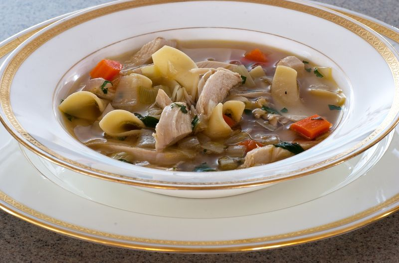Homemade Chicken Noodle Soup ©2011 Claudia Ward