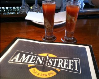 Oyster Shooters at Amen Street Charleston SC