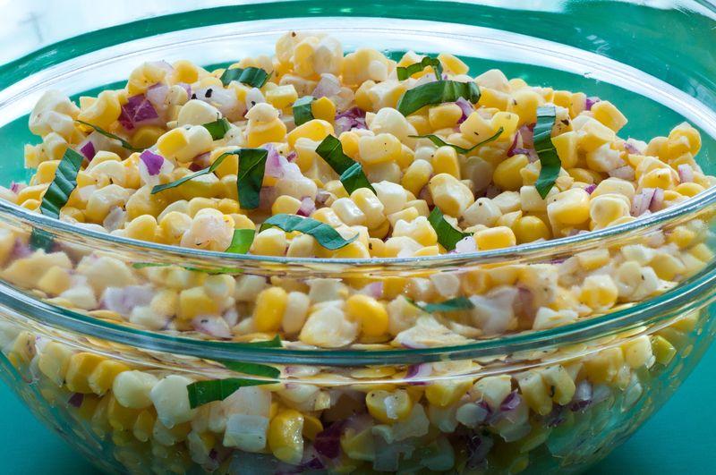 Fresh Corn_Salad with Basil