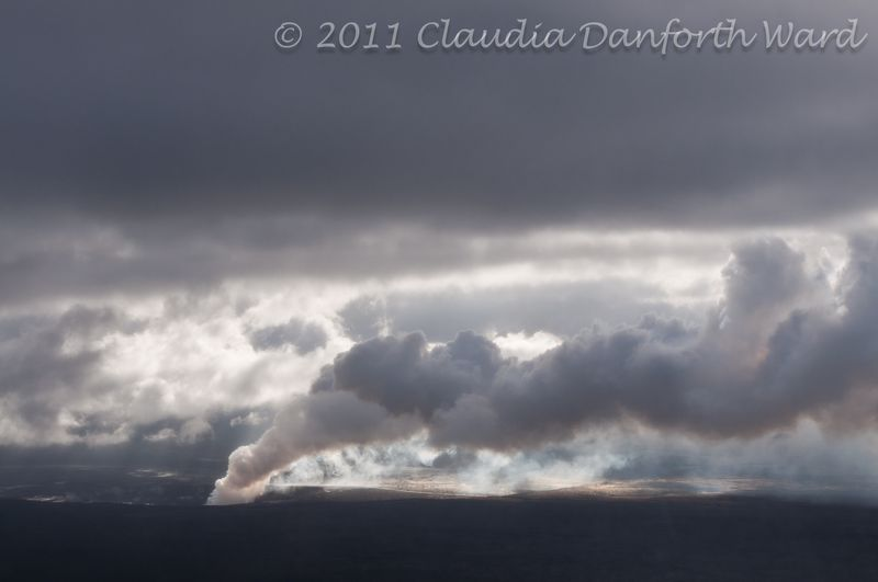 Volcanic Gases Being Released into the Atmosphere - Hawaii