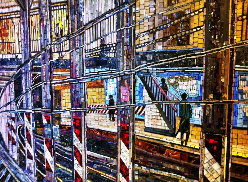 NYC Subway Art HDR iPhone Photo