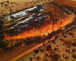 Grilled Salmon - Spice Rubbed, Cedar Planked