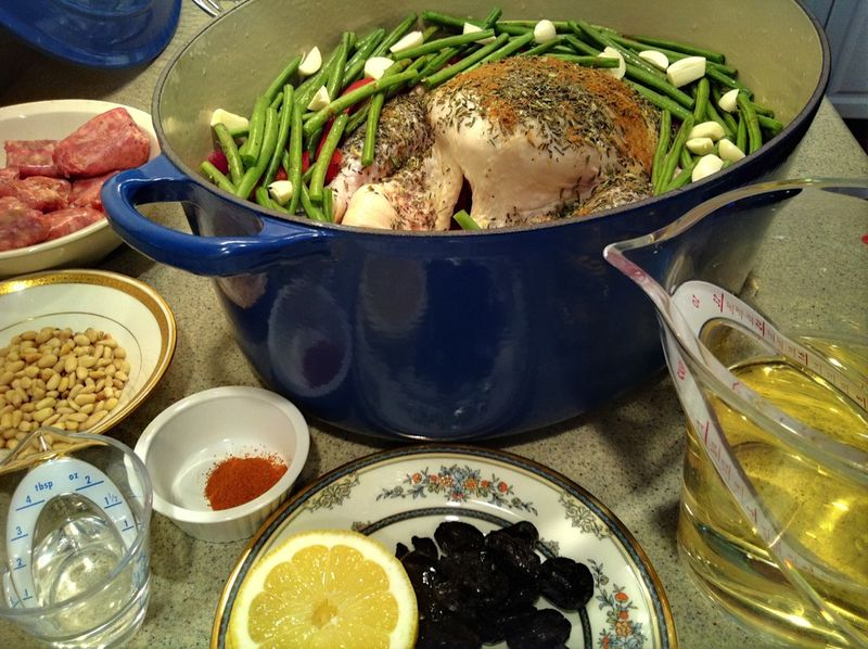 Ingredients for Lemon & Olive Chicken with French Green Beans
