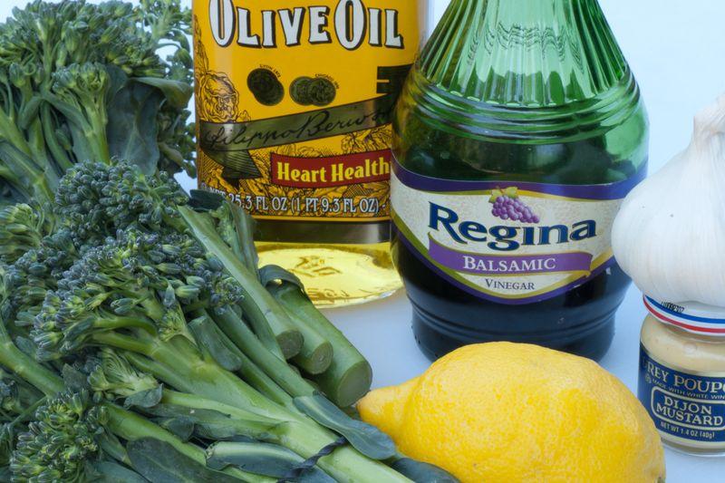 Ingredients for Broccolini & Balsamic Vinaigrette