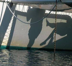 Chain Anchor on a Catamaran