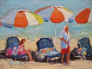 Beach Weekend painted by Barbara Andolsek