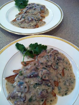 Tarragon-Sherried Mushrooms
