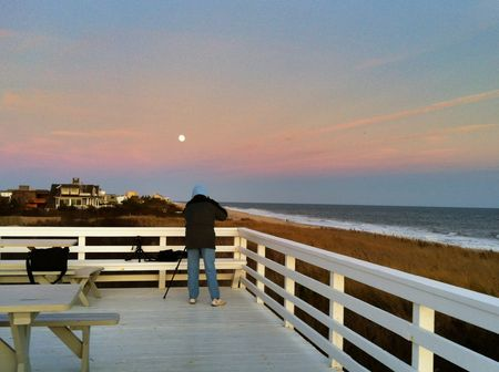 Shooting the Moon at the Beach
