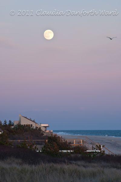 Rising Moon at Sundown