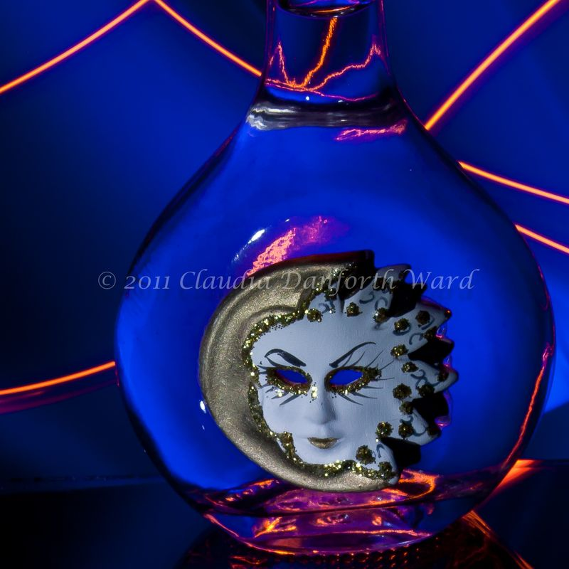 Lady on Glass in Blue © 2011 Claudia Ward