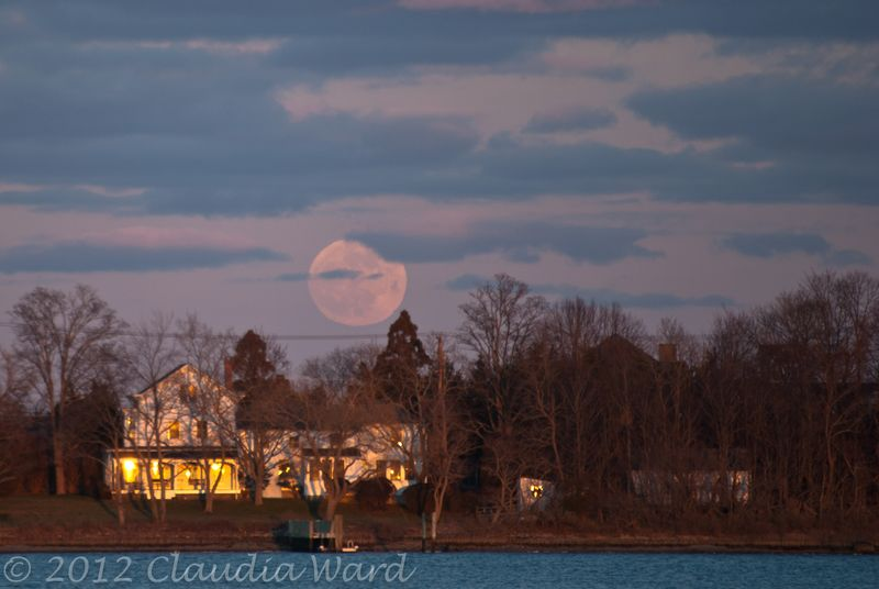 Moon Rising Over North Haven ©2012 Claudia Ward