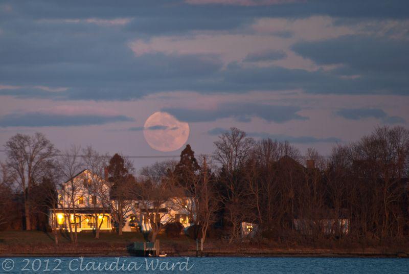 Moon Rising Over North Haven ©2012 Claudia Ward