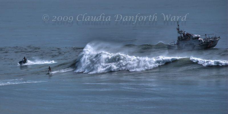Montauk_Coast_Guard_Cutter Post Hurricane Bill © 2009 Claudia Danforth Ward