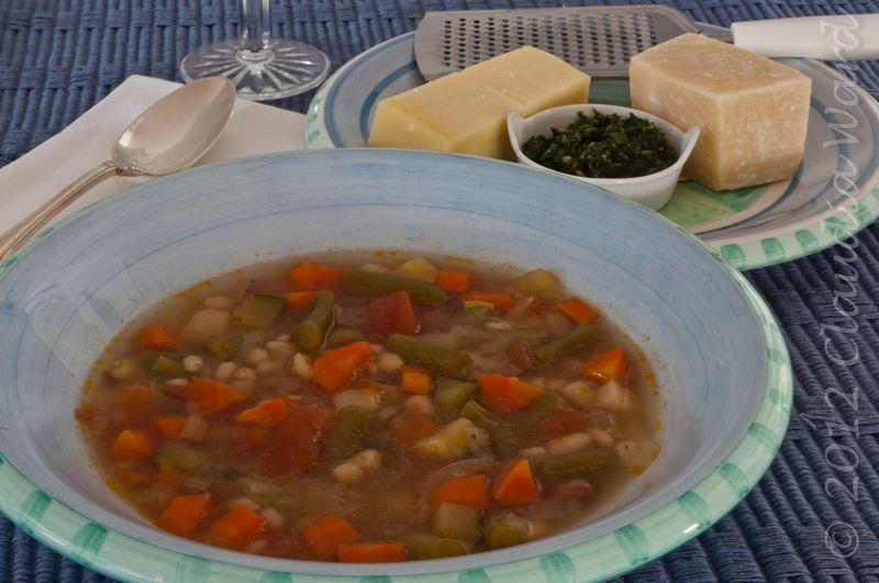 Soupe au Pistou & Cheese