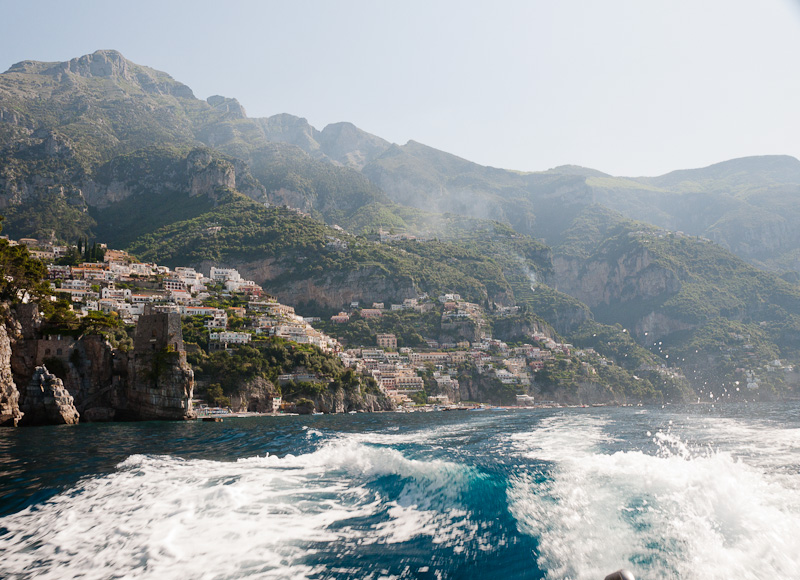 Taking the Boat from Positano to Capri