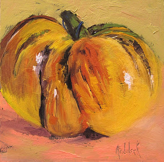 Meaty Tomato painted by Barbara Andolsek