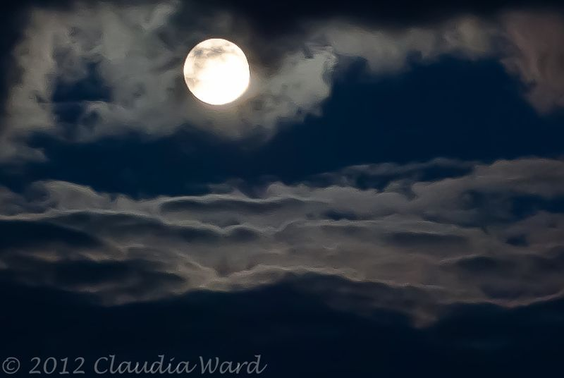 Full Moon Above the Clouds © 2012 Claudia Ward
