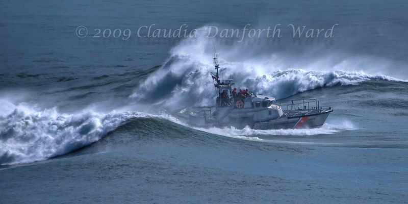 Montauk_Coast_Guard_Cutter © 2009 Claudia Danforth Ward