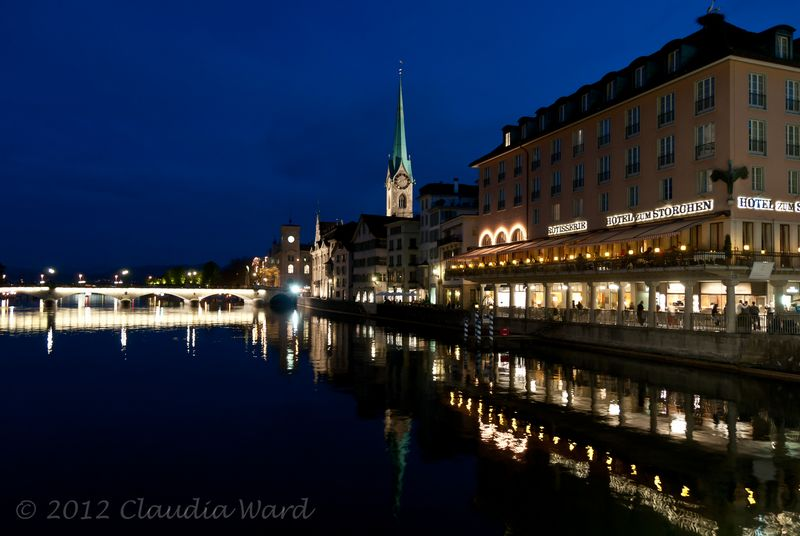 Blue Hour in Zurich © 2012 Claudia Ward