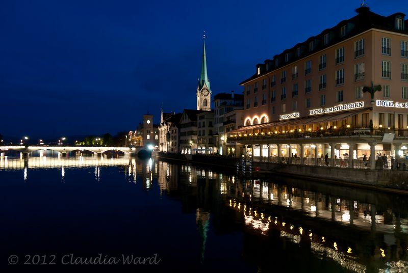 Blue Hour in Zurich © 2012 Claudia Ward