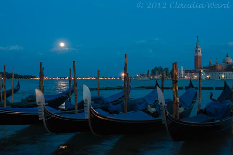 Full Moon Over Venice ©2012 Claudia Ward