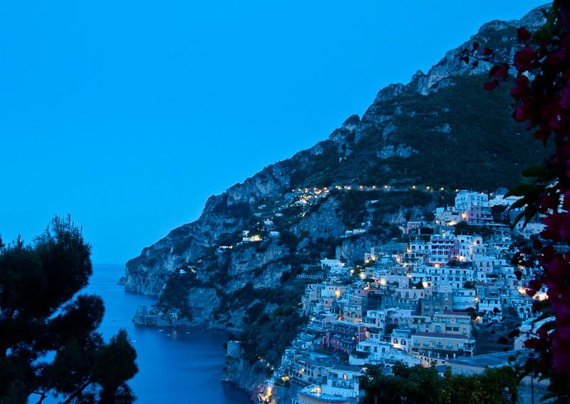 Blue Hour from the Balcony, Positano, Italy
