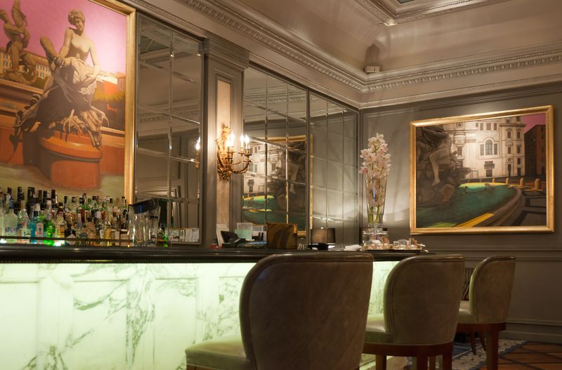 The Lobby Bar in The St. Regis Rome Grand Hotel