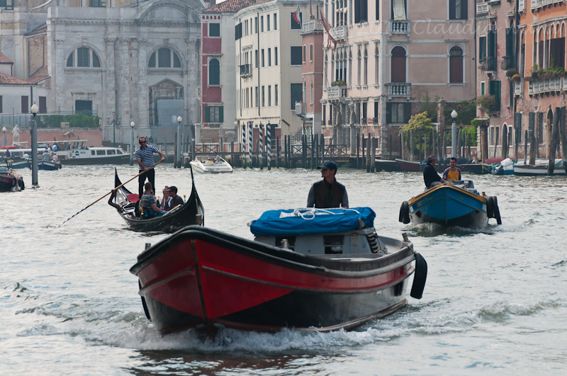 Boats in the Canals of Venice ©2012 Claudia Ward
