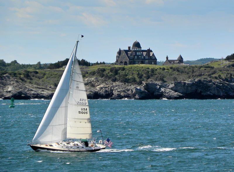 Flying the Flag on Narragansett Bay ©2012 Peter Tooker