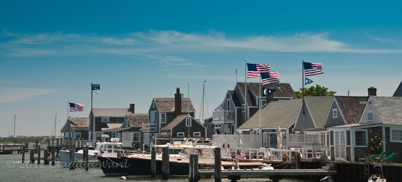 Flags Over Nantucket ©2012 Claudia Ward